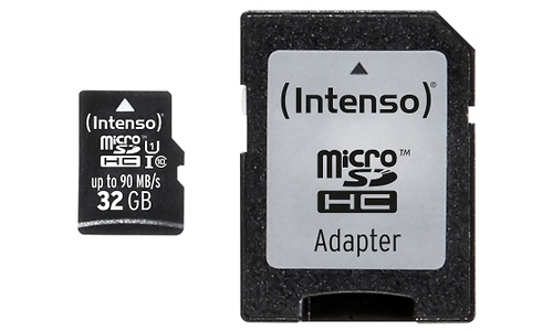 Intenso Professional MicroSDHC UHS-I 32GB + Adapter