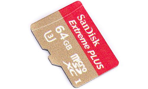 Sandisk Extreme+ MicroSDXC UHS-I U3 64GB + Adapter