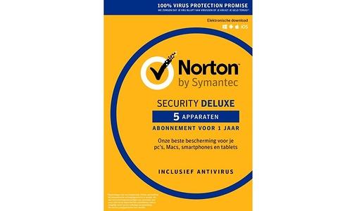 Symantec Norton Security Deluxe 3.0 1-user 5-devices NL