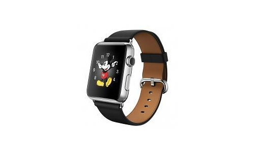 Apple Watch 42mm Stainless Steel Case, Black Classic Buckle