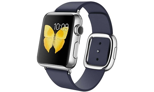 Apple Watch 38mm tainless Steel Case, Midnight Blue Modern Buckle, M