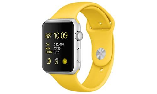 Apple Watch Sport 42mm Silver Aluminium Yellow