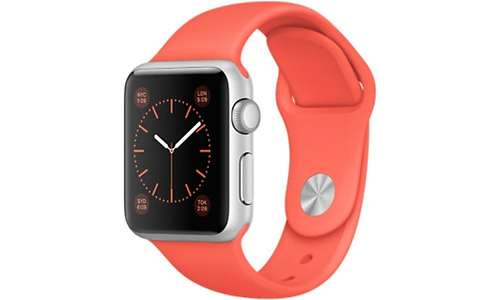 Apple Watch Sport 38mm Silver Aluminium Case Apricot Sport Band
