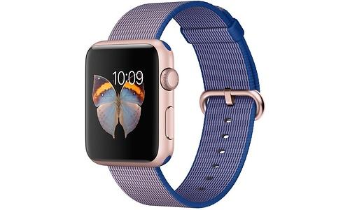 Apple Watch Sport 42mm Rose Gold Aluminium Case Royal Blue