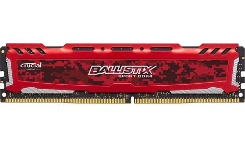 Crucial Ballistix Sport LT 16GB DDR4-2400 CL16 Red