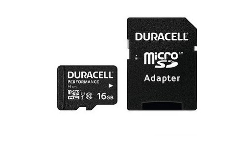 Duracell Performance MicroSDHC UHS-I 16GB + Adapter