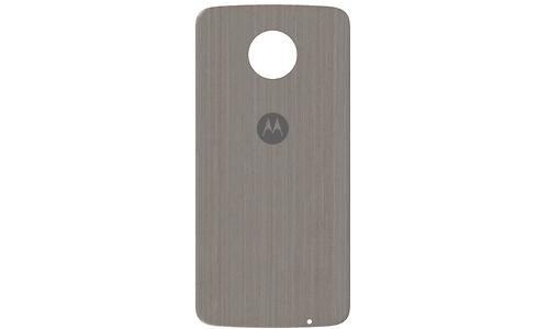 Motorola Moto Z Back Cover Silver Oak Wood