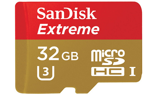 Sandisk Extreme MicroSDHC UHS-I 32GB + SD Adapter
