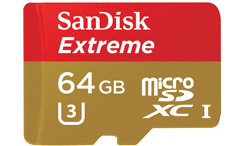 Sandisk Extreme MicroSDXC UHS-I 64GB + SD Adapter