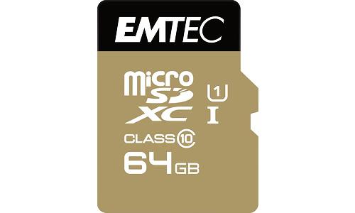 Emtec Gold MicroSDXC UHS-I 64GB + Adapter