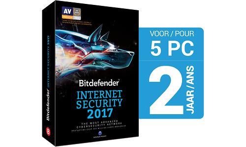 Bitdefender Internet Security 2017 Base 5-users 1-year (NL)