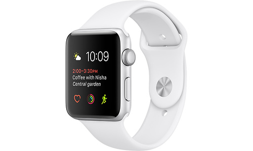 Apple Watch Series 1 38mm Silver Sport Band White
