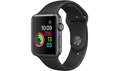 Apple Watch Series 2 42mm Space Grey Sport Band Black