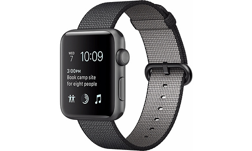 Apple Watch Series 2 38mm Space Grey Sport Band Black (125-195mm)