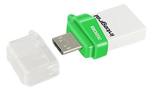 Integral Micro Fusion 32GB On-The-Go White/Green