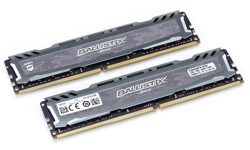 Crucial Ballistix Sport LT Grey 16GB DDR4-2666 CL16 DR kit