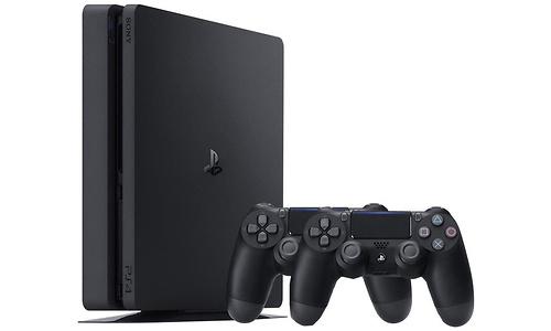 Sony PlayStation 4 Slim 500GB Black + 2 Controller
