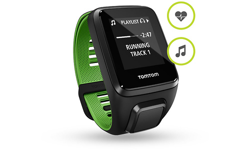 TomTom Runner 3 Cardio + Music Black/Green L