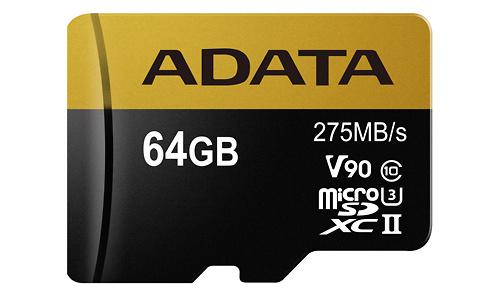 Adata Premier One V90 MicroSDXC UHS-II 64GB + Adapter