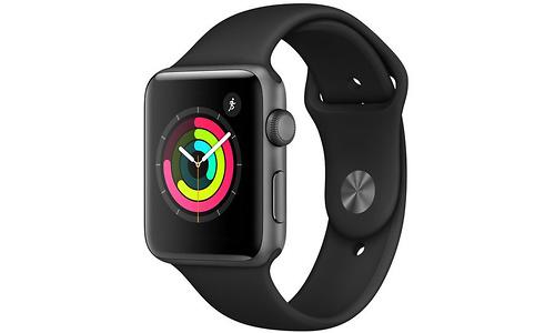 Apple Watch Series 3 42mm Aluminium Space Grey + Black Sport Band