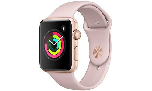 Apple Watch Series 3 42mm Aluminium Gold + Pink Sport Band