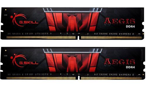 G.Skill Aegis Black/Red 8GB DDR4-2400 CL17 kit