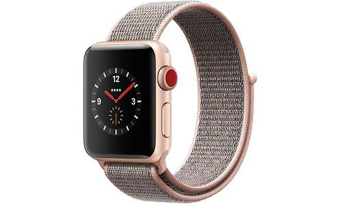 Apple Watch Series 3 38mm Aluminium Gold + Sport Loop Sandrosa