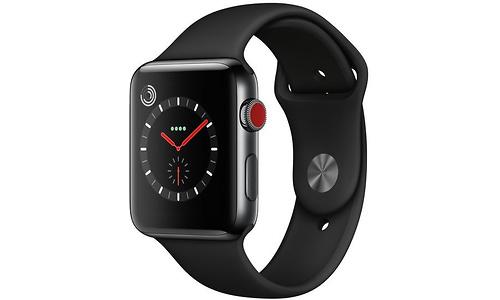 Apple Watch Series 3 42mm Stainless Steel Black + Sport Loop Black