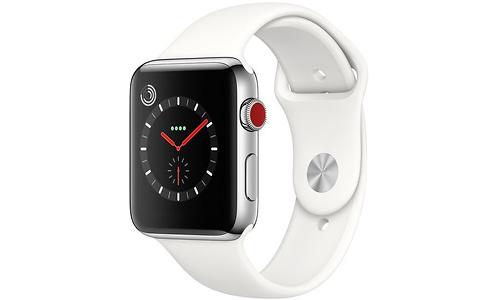 Apple Watch Series 3 42mm Stainless Steel Silver + Sport Loop White