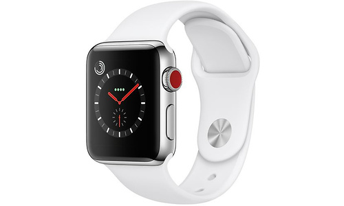 Apple Watch Series 3 38mm Stainless Steel Silver + Sport Loop White