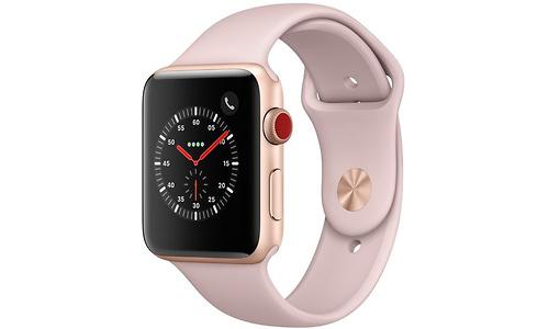Apple Watch Series 3 42mm Aluminuim Gold + Sport Loop Sandrosa (140-210mm)
