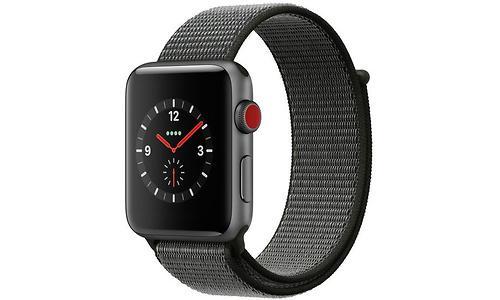 Apple Watch Series 3 42mm Aluminuim Space Grey + Sport Loop Dark Olive