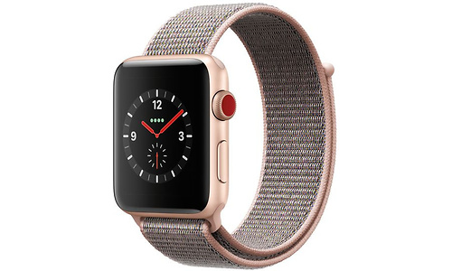 Apple Watch Series 3 42mm Aluminuim Gold + Sport Loop Sandrosa (145-220mm)