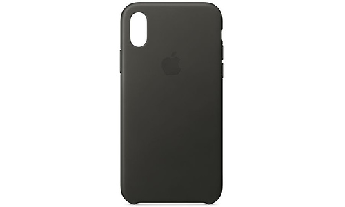 Apple Leather Case for iPhone X Charcoal Grey
