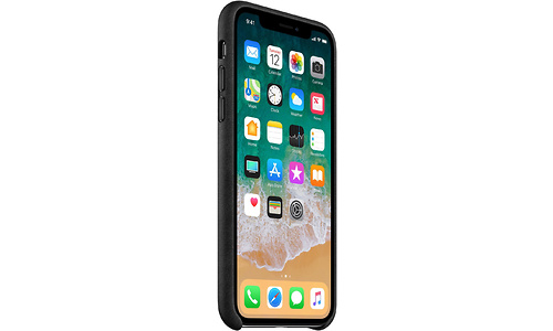 Apple iPhone X Leather Back Cover Black