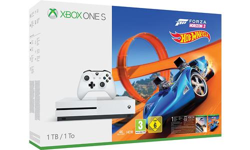 Microsoft Xbox One S 1TB White + Forza Horizon 3 + Hot Wheels