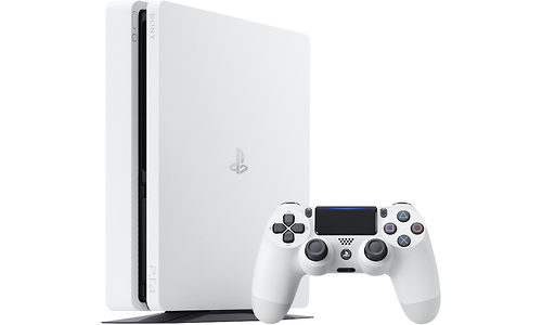 Sony PlayStation 4 Slim 500GB Glacier White + Controller