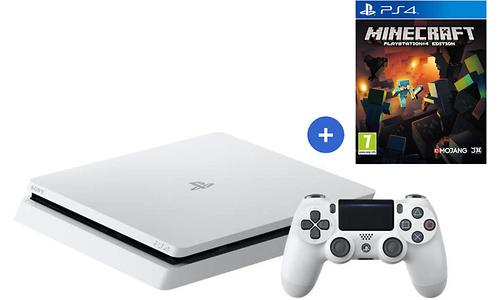 Sony PlayStation 4 Slim 500GB White + Minecraft