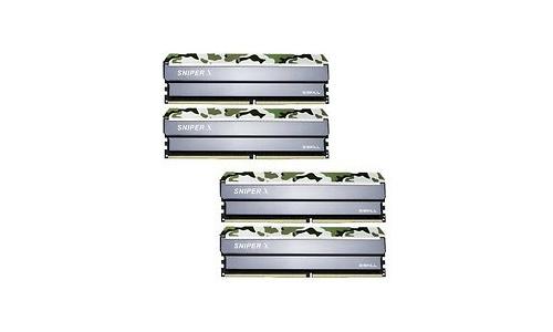 G.Skill SniperX Classic Camouflage 32GB DDR4-3000 CL16 quad kit