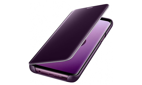 Samsung Galaxy S9 Clear View Stand Cover Purple
