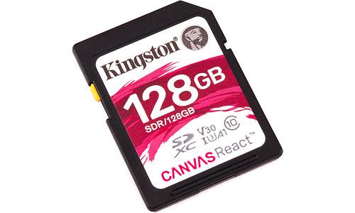 Kingston Canvas React SDXC UHS-I U3 128GB