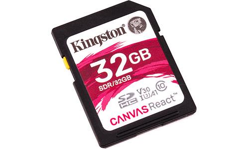 Kingston Canvas React SDHC UHS-I U3 32GB