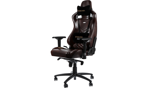 Noblechairs Epic Real Leather Gaming Chair Black/Brown