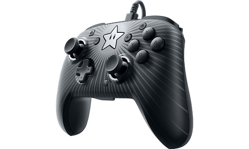 PDP Faceoff Wired Pro Controller Super Mario Star Edition Black