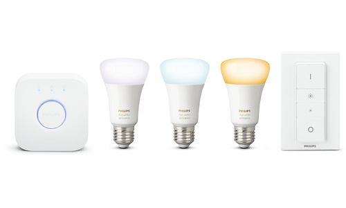 Philips Hue White Ambiance Starter Pack + Dimmer