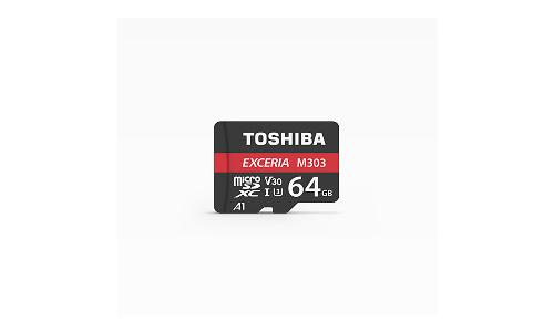 Toshiba Exceria Pro M303 MicroSDXC UHS-I 64GB Black/Red