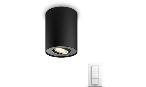 Philips Hue Pillar Single Spot Black + Dimmer