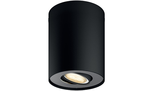 Philips Hue Pillar Extra Single Spot Black