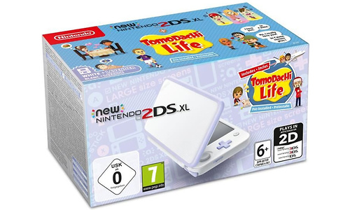 Nintendo New 2DS XL White/Lavender + Tomodachi Life