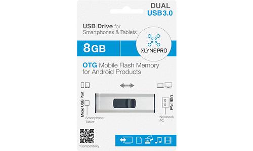 Xlyne Pro OTG 8GB Black/Silver